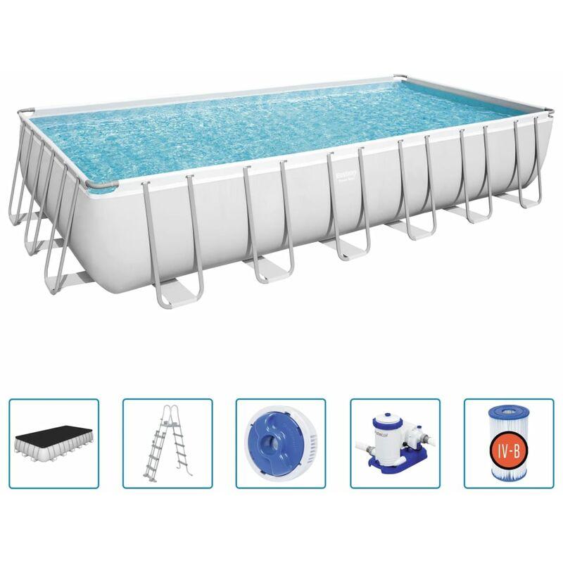 Ensemble de piscine Power Steel Rectangulaire 732x366x132 cm - Bestway