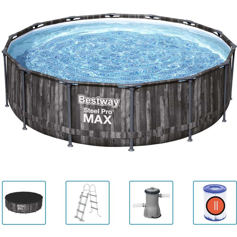 Ensemble de piscine ronde Steel Pro MAX 427x107 cm - Bestway