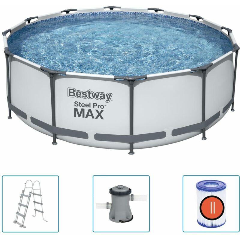 Bestway Ensemble de piscine Steel Pro MAX 366x100 cm