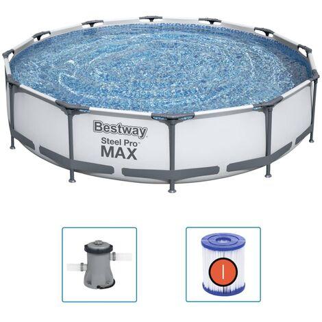 Bestway Ensemble de piscine Steel Pro MAX 366x76 cm