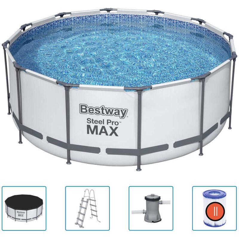 Bestway Ensemble de piscine Steel Pro MAX Rond 366x122 cm