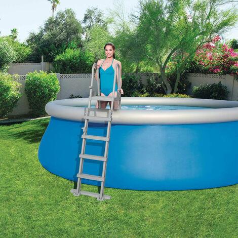 Bestway Escalera de piscina 4 peldaños Flowclear 132 cm 58332