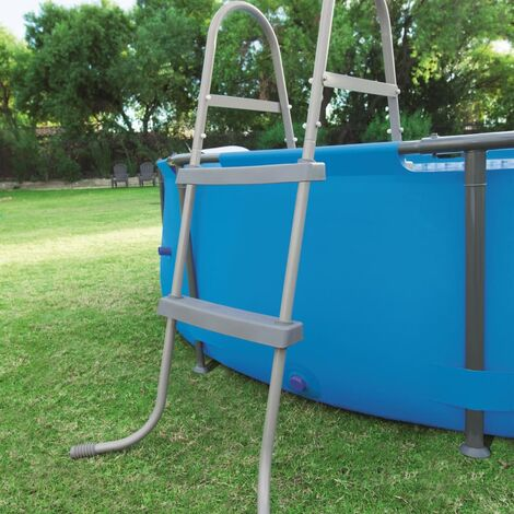 Bestway Escalera para piscina 2 peldaños Flowclear 84 cm - Gris