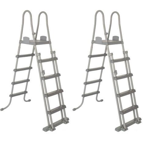 Bestway Escalera para piscina 4 peldaños 2 uds. Flowclear 132 cm 58332