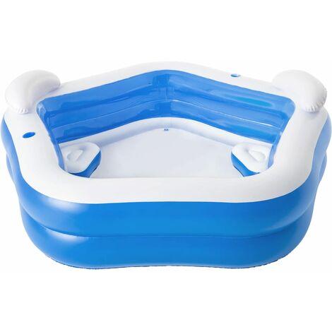 Bestway Family Fun Lounge Pool 213x206x69 cm - Blue
