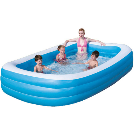 Bestway Family Pool Blue Rectangular Deluxe, 305 x 183 x 56 cm, 54009