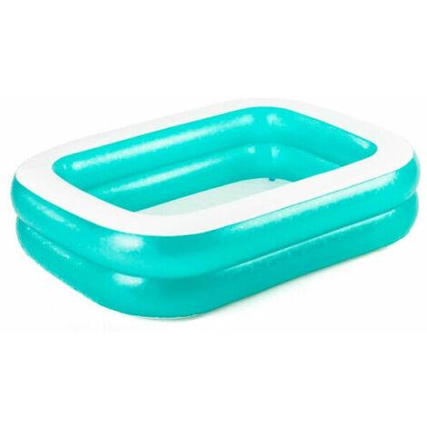 """Bestway Family Pool """"Blue Rectangular"""", Schwimmbad, blau/weiß, 201cm x 150cm x 51cm"""