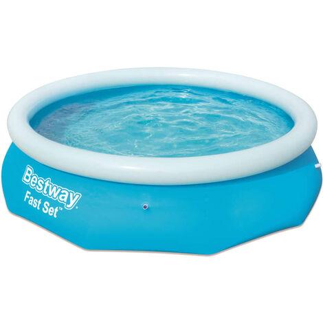 Bestway Fast Set Aufblasbarer Swimmingpool Rund 305x76 cm 57266