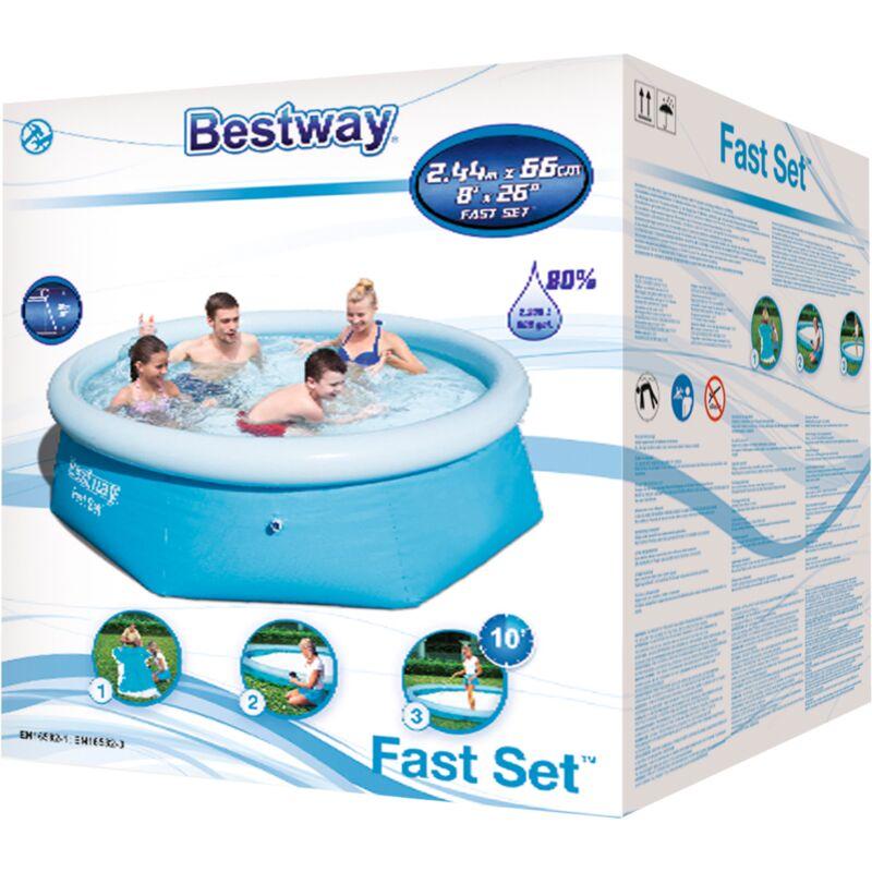 244x66 cm Schwimmbecken Schwimmbad Pool Planschbecken Bestway Fast Set™ Pool