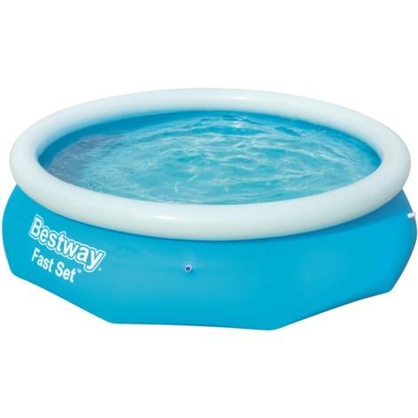 Bestway Fast Set Pool, Ø 305cm x 76cm, Schwimmbad, blau/hellblau