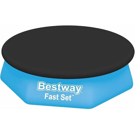 "main image of ""Bestway Fast Set Pool Cover (8ft) (Black)"""