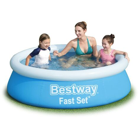 BESTWAY FAST SET SWIMMING POOL 6' X 20 FOR KIDS AND ADULTS BLUE