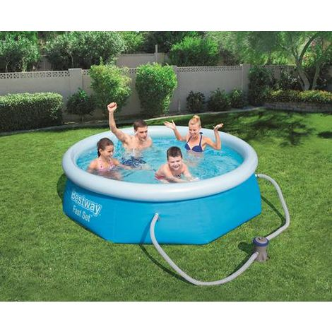 BestWay Fast Set Swimming Pool Set Round Inflatable 8ft x 26inch 57268