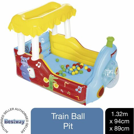 Bestway Fisher-Price Train Ball Pit Inflatable Kids Play Centre 132 x 94 x 89 cm, 1pk