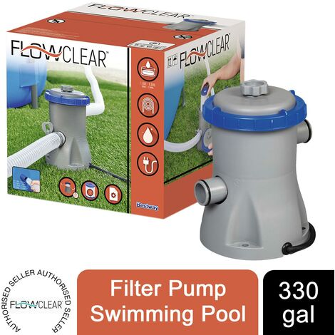 Bestway Flowclear 330gal Filter Pump Swimming Pool, Grey
