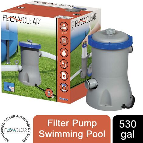 Bestway Flowclear 530gal Filter Pump Swimming Pool, Grey