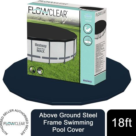 Bestway Flowclear Above Ground 18ft Steel Frame Swimming Pool Cover, 1pk