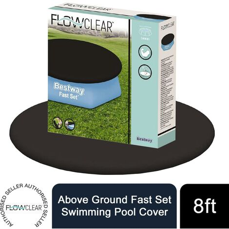 Bestway Flowclear Above Ground Fast Set 8ft Swimming Pool Cover, 1pk