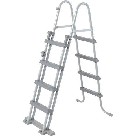 Bestway Flowclear Escalera de piscina de seguridad 4 escalones 122 cm - Gris