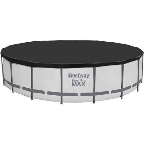 Bestway Flowclear Fast Cubierta de piscina 555 cm - Negro