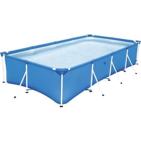 Bestway Frame Pool STEEL PRO eckig 400 x 211 x 81 cm
