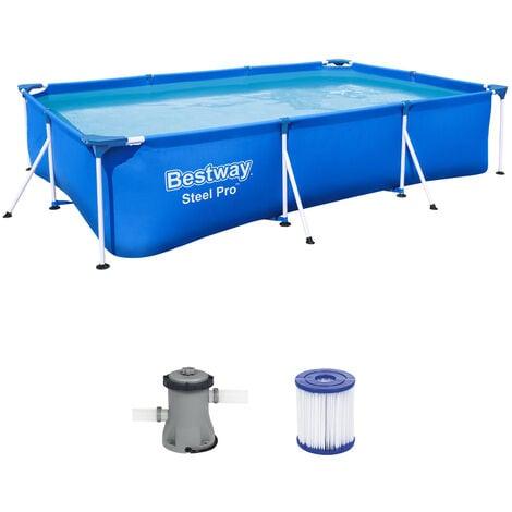 Bestway Frame Pool Swimming Pool Steel Wall Frame Swimmingpool Steel Pro 56411