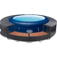 Bestway Jacuzzi hinchable con borde de ratán Lazy-z-Spa 196x61 cm 14294