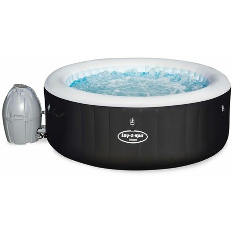 Bestway Jacuzzi hinchable Miami Air Jet serie Lay-Z-Spa - Negro