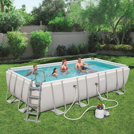 Bestway Jeu de piscine rectangulaire Power Steel 549x274x122 cm 56466