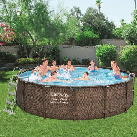 Bestway Jeu de piscine rond Power Steel Deluxe Series 427x107 cm 56664
