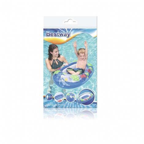 Bestway Kinderboot Kleinkinder Schlauchboot 3-6 Jahre blau