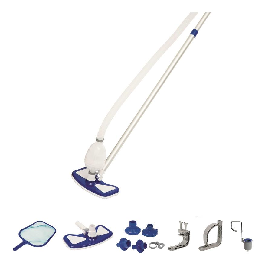 Bestway kit de nettoyage piscine hors sol skimmer flottant aspirateur venturi puisette - Nettoyage piscine hors sol intex ...