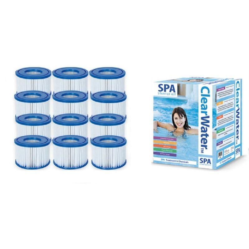 4 x Bestway Lay Z Spa Size VI Filter Hot Tub Cartridge Vegas Monaco Miami Paris
