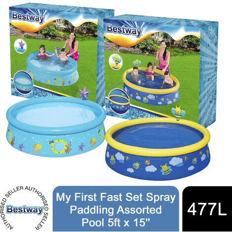 Bestway-My First Swimming Pool Fast Spray Set, Multicoloured, 152 x 38 cm, 57326