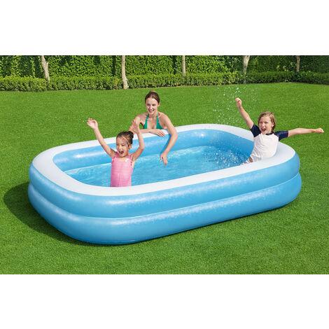 Bestway Paddling Pools 269x175cm with Repair Kit Kids Inflatable Swimming Pool Vinyl
