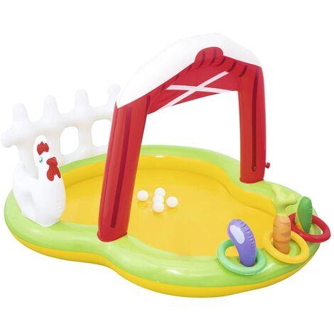 Bestway Parque infantil hinchable con forma de granja 175x147x102 cm