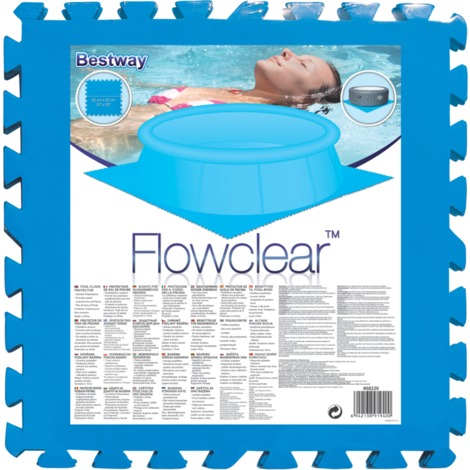 Bestway PE Poolmatten Schutzboden 8er Pack 50 x 50 cm Blau
