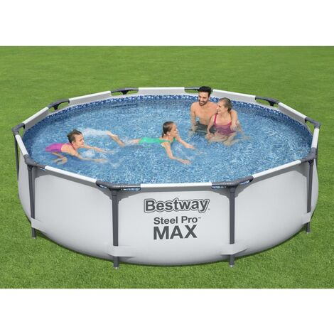Bestway Piscina de acero Pro MAX 305x76 cm - Gris