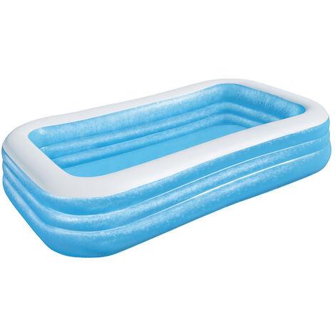 Bestway Piscina hinchable familiar rectangular azul 305x183x56cm inflable verano exterior