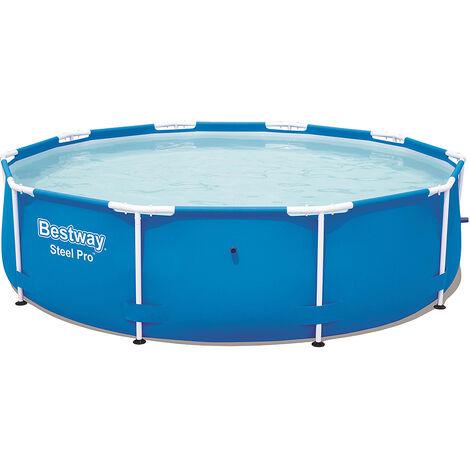 Bestway Piscina Steel Pro Frame Pool sin bomba de 305x76cm con estructura de acero azul