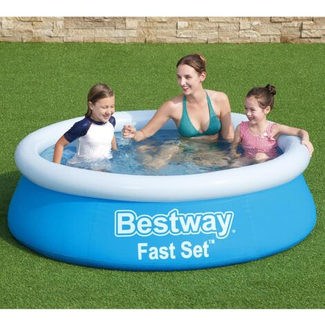 Bestway Piscine gonflable Fast Set Rond 183x51 cm Bleu