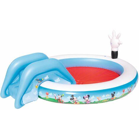 Bestway Piscine Gonflable Pour Enfants Avec Toboggan , La Maison De Mickey - 91014