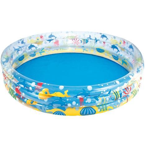 Bestway piscine gonflable ronde 3 anneaux d.152 x H30 cm 317 L enfants 51004B