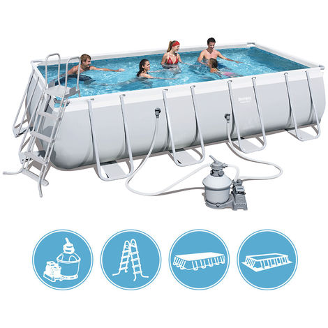 bestway piscine hors sol en acier 549 x 274 x 122 cm. Black Bedroom Furniture Sets. Home Design Ideas