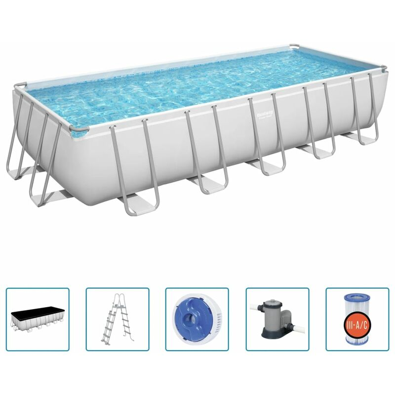 Piscine hors-sol rectangulaire Power Steel 19281 L - Bestway