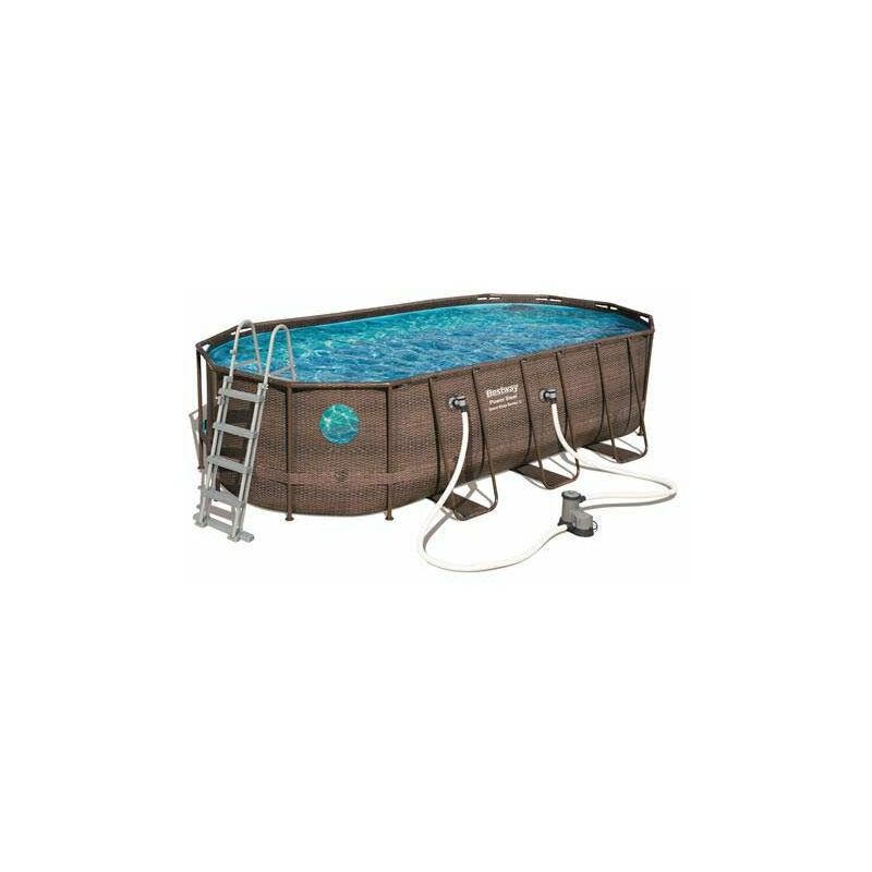 Piscine tubulaire ovale Power Steel Swim Vista 5,49 x 2,74 x 1,22 - Bestway