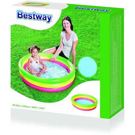 BESTWAY - Piscine pataugeoire bassin gonflable enfants - Ø 102 cm