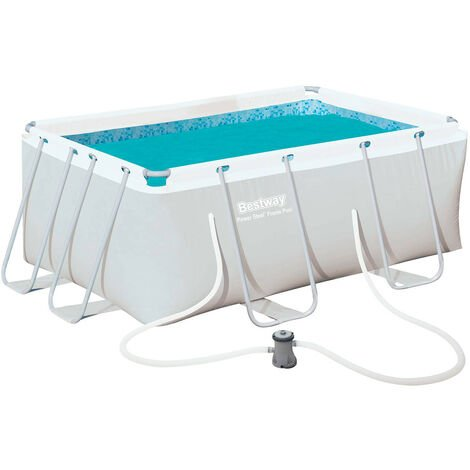Bestway Piscine Tubulaire Amovible Power Steel 287 cm x 201 cm x 100 cm - 56409