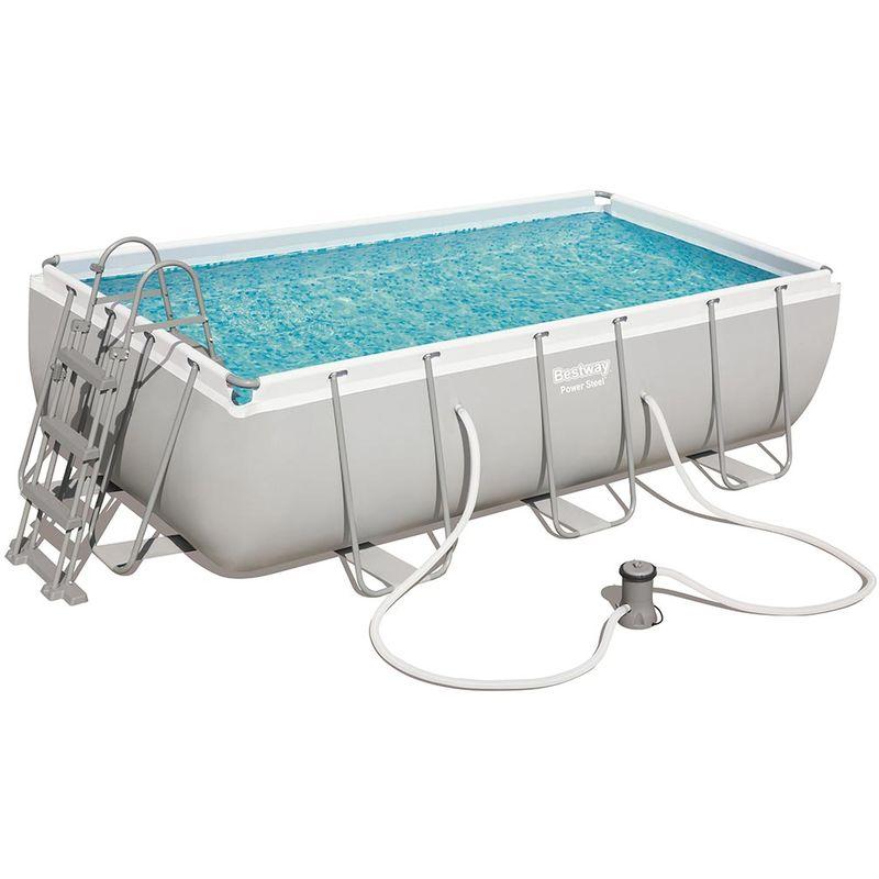 Kit piscine tubulaire POWER STEEL FRAME POOL rectangulaire 404 x 201 x 100cm - Bestway