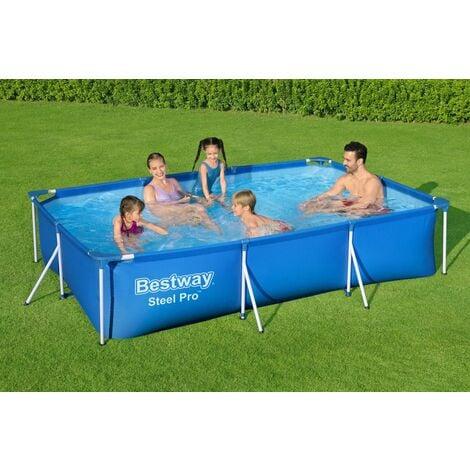 Bestway Piscine tubulaire rectangulaire Steel Pro™300x201x66cm acier jardin enfant été